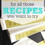 Simple Solution For All Those Recipes You Want To Try