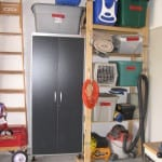 Garage: Using a Locked Storage Cabinet to Organize Hazardous Items and Valuables