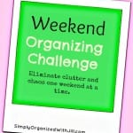Weekend Mini-Organizing Challenge:  Create Space For a Home Workout