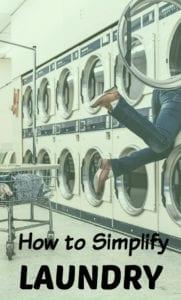 simplify laundry