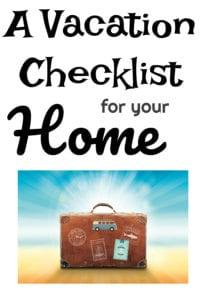 a vacation checklist