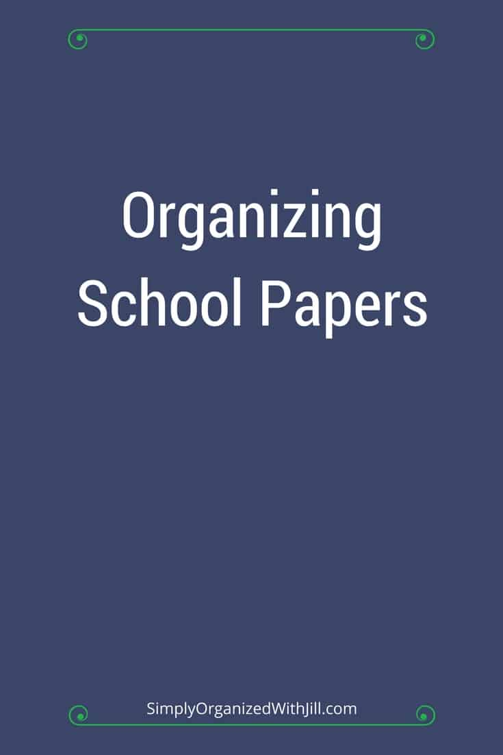 organizing school papers