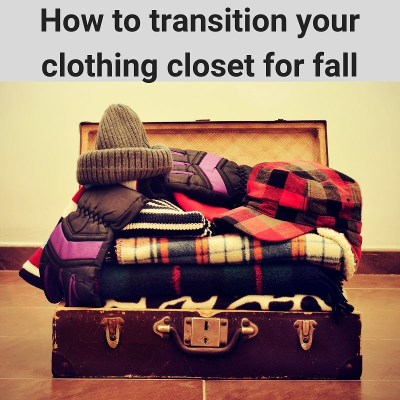 clothing closet, organizing clothing for fall