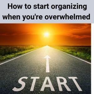 start organizing