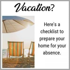vacation checklist