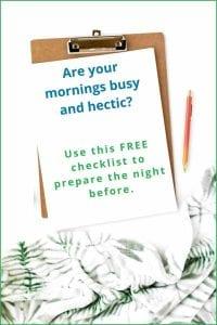 checklist organizing